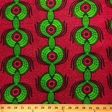 African Print Fabric 100% Cotton 44'' wide sold by the yard Peacock (90107-3)