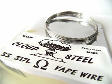 5m 24 awg CLOUD STEEL STAINLESS 317L COMP WIRE GPlat RDA COIL VAPE 24G MOD SS TC