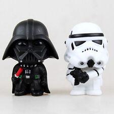 """2 UNIDADES Set Star Wars Muerte Vader Soldado imperial 4"""" PVC Figuras De Acción"""