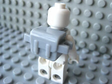 Custom BACKPACK Accessory for Lego Minifigures -Light Gray- Hiking Military Army