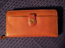 Stone Mountain Women's Leather Accordion Wallet/Organizer. Saddle Brown. NICE.