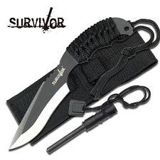 KNIFE COLTELLO DA CACCIA SURVIVOR 758 CON ACCIARINO FUOCO SURVIVAL SOPRAVVIVENZA