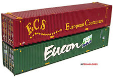Graham Farish 379-370 N Gauge 2 x 45ft Container Set ECS/EUCON New Carded 1st P