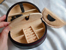 """Dulwich Designs"" Small Luxurious Genuine Leather Travel Jewellery Box!!!"
