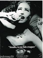 Publicité Advertising 1989 Parfum Francesco Smalto