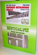 Metcalfe PO249 Tapered Retaining Walls, Stone Style (00) Railway Model