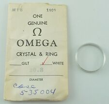 Genuine Omega Plastic Crystal - 20.3mm Vintage w/ White Tension Ring