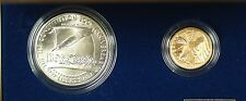 1987 US Mint Constitution 2 Coin Gold & Silver Commem UNC Set as Issued DGH