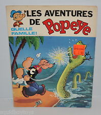 les Aventures de POPEYE Quelle Famille! BD French Comic Book 1970 King Features