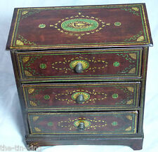 "ANTIQUE MACFARLANE&LANG""CHIPPENDALE""FIGURAL CHEST OF DRAWERS BISCUITS TIN C1904"