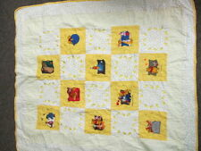 "Disney Winnie the Pooh Yellow Infant Baby quilt 38 1/2"" x 44"""