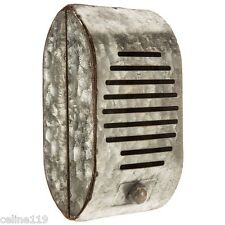 Rustic Galvanized Decorative Wall Art Metal Drive-In Movie Show Prop Speaker new