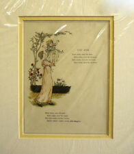 Antique Print Kate Greenaway Baby Mine c1900 Mounted ready to frame