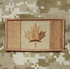 CANADA FLAG CANADIAN MILITARY ARMY TACTICAL MILSPEC COMBAT DESERT IRON ON PATCH