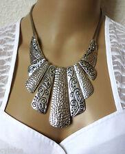 Halsschmuck Damen Kette Halskette Collier Metallkette silberfarbe Cleopatra edel
