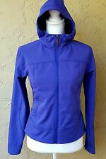 Marmot Purple Poly Blend Zip Adjustable Hood Lined Jacket Windbreaker Size XS