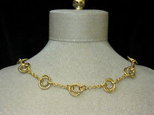 NWT Ralph Lauren Short Necklace Dbl Ring Chain Nautical Classic NEW Cat Rescue
