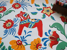 FURNISHING Heavy Cotton Canvas Fabric RUSSIAN HORSE by HALF METRE #53