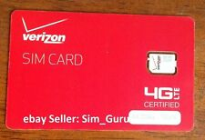 Verizon Wireless 4G LTE Nano SIM card for iPhone 5, 5S, 5C, Prepaid Post paid