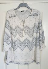 F&F Boho/Hippy Floaty Summer Tunic Top - Size 22 - Great Condition