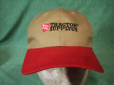 TSC TRACTOR SUPPLY  PRE-owned BASEBALL HAT: ONE SIZE FITS ALL RED /TAN   NICE!!