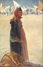Croatia Yugoslaivia Native Woman in Costume Spalato Split c1910 Postcard