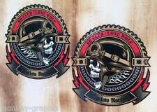 2x Oldschool Outlaw Racer Aufkleber / Biker Bobber Sticker Retro 1% Rockabilly