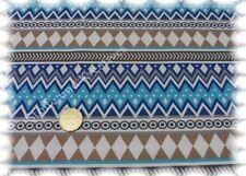 Arctic Pattern Stretch-Jersey weiß türkis Hilco Shirtstoff 50 cm Streifenstoff