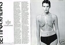 Coupure de Presse Clipping 1990 (8 pages) Bettina Rheims