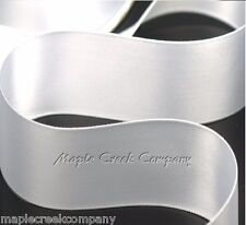 """3yd of White 1.5"""" Double Face Satin Ribbon 1-1/2"""" x 3 yards neatly wound"""
