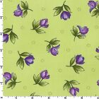 CATALINA Ultra Violet Floral Green Quilt Fabric by Maywood by 1/2 Yard 8405-G2