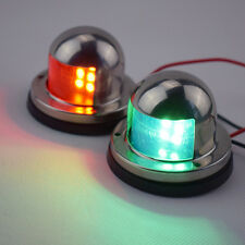 Fresh A Pair Bow Navigation LED Light For Boats -Stainless Housing Red and Green