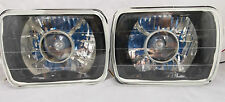 86-95 JEEP WRANGLER YJ BLACK CHROME PROJECTOR GLASS HEAD LIGHTS H4
