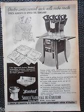 1939 SOCIETA NAZIONALE RADIATORI ANTICA STUFA LEGNA CUCINA CARBONE AD WERBUNG