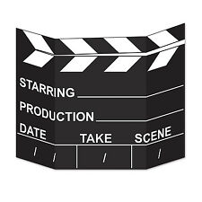 Hollywood Movie Set Clapperboard Stand-Up  - Vip Movie Party Decoration Cutouts
