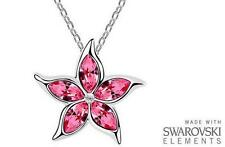 Made with Swarovski Elements Pink Star Pendant and Necklace - £38