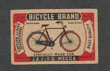 Ancienne étiquette   Allumettes Italie  Vélo Cycle