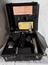 WW 2 USAAF USN A-10 Bubble Type Sextant with Black Plastic Case & Users Name
