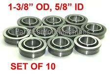 "QTY. 10, FLANGE BEARINGS 1-3/8"" OD, 5/8"" ID, GO KARTS, BUFFERS, CARTS, DOLLIES!"