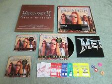 MEGADETH skin o' my teeth CAPITOL RECORDS 10-inch Box Set + CDs/7-inch & Game pa