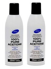 100% Pure Acetone Artificial Nail Remover 250 ml X 2 + 1 FREE CAMAY SOAP