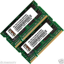 4GB (2x2GB) DDR2-667 PC2-5300 Laptop (SODIMM) Memory (RAM) 200-pin