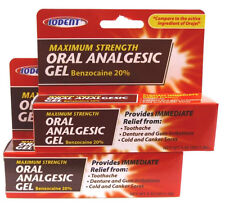 2pak Iodent Maximum Strength Oral Analgesic Gel Tooth Ache Teething Comp- Orajel