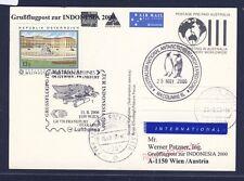 50275) LH / AUA SF Wien - FFT - Djakarta 11.8.2000, GA Australien Macquarie Isl