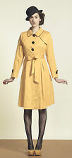 Eucalyptus Clothing Autumn Mustard Mac Coat. RRP £95. Size XS – UK 8. BNWT.