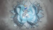 5 inch boutique olaf bling bobble or barrette clip