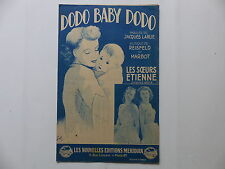 Partition Dodo baby dodo JACQUES LARUE REISFELD LES SOEURS ETIENNE MARBOT