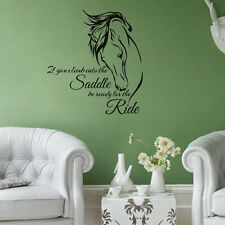 Horse Head Wall Decal Stickers Quote Saddle Ride Living Room Wall Decals Sayings