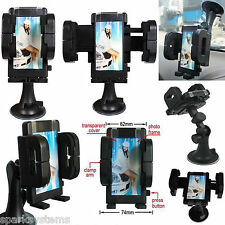 In Car Universal Cell Phone SAT NAV PDA GPS Holder Double Locking Suction Mount