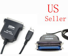 USB 2.0 Parallel 1284 Printer Adapter Cable IEEE PC Converter Connector 36-pin